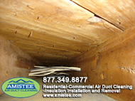 good quality of air from air ducts after cleaning
