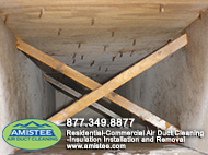 duct after mold removed
