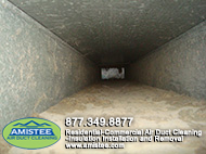 construction materials in ducts