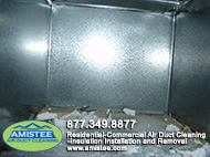 want to get rid of dust in duct?